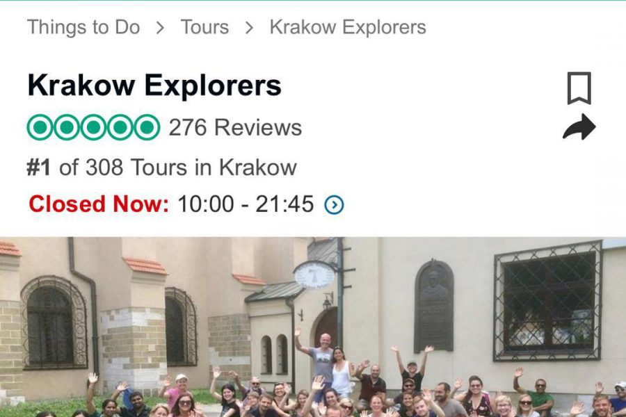 #1 by Trip Advisor among 308 tours in Krakow ;)