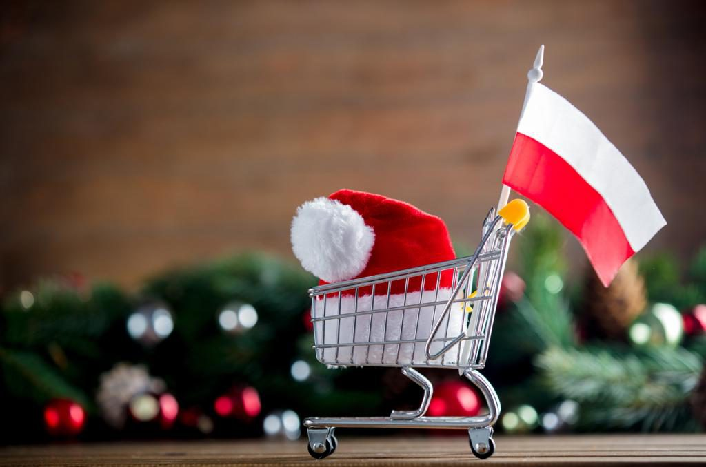 Christmas and Polish flag